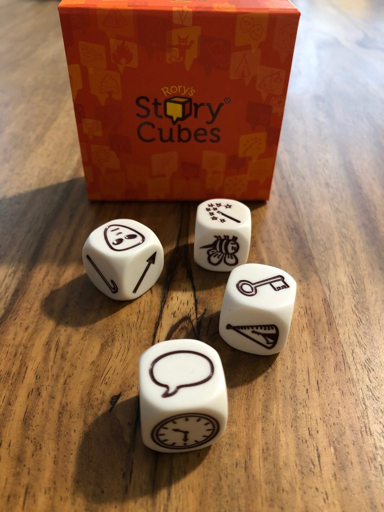 Mon utilisation des Story Cubes oranges