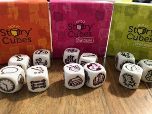 Les trois boîtes de Story Cubes