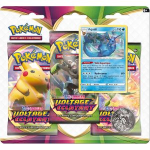 Tripack de boosters Voltage Éclatant - Pokémon Aquali (EB4)