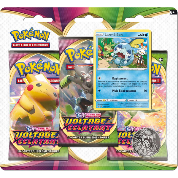 Tripack de boosters Voltage Éclatant - Pokémon Laméléon (EB4)