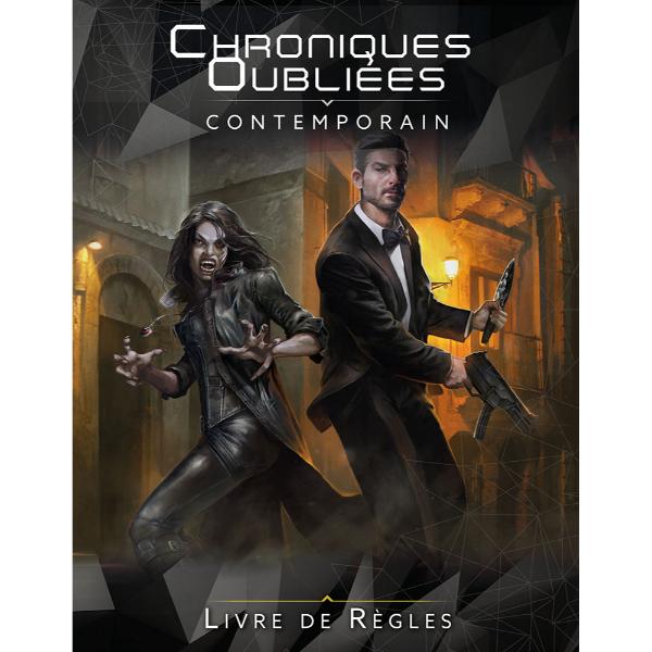 La première de couverture du livre de règles Chroniques Oubliées Contemporain