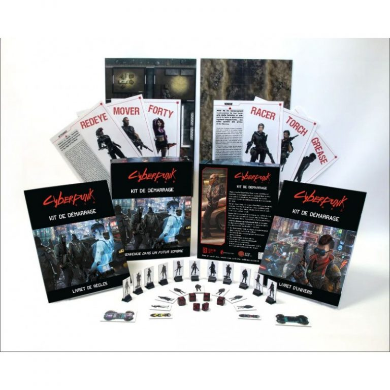 Le contenu du kit de démarrage Cyberpunk Red