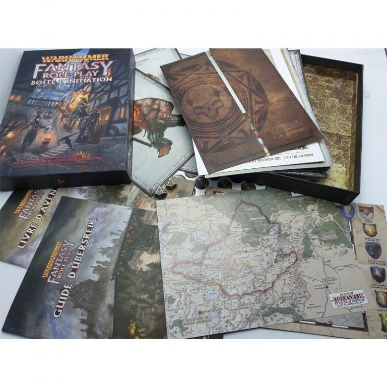 Le contenu de la boîte d'initiation Warhammer Fantasy