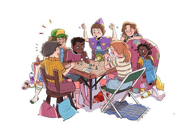 Jeu de rôle et enfants : un groupe de jeunes joueurs